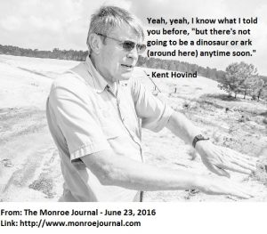 A Hovind quote about dino and ark 06262016