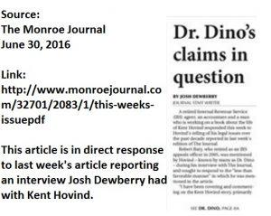 The Monroe Journal Rebuttal