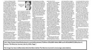 A Ernie Land Monroe Journal Article