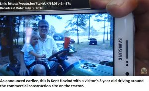 A Hovind and 3 year old on tractor 07032016